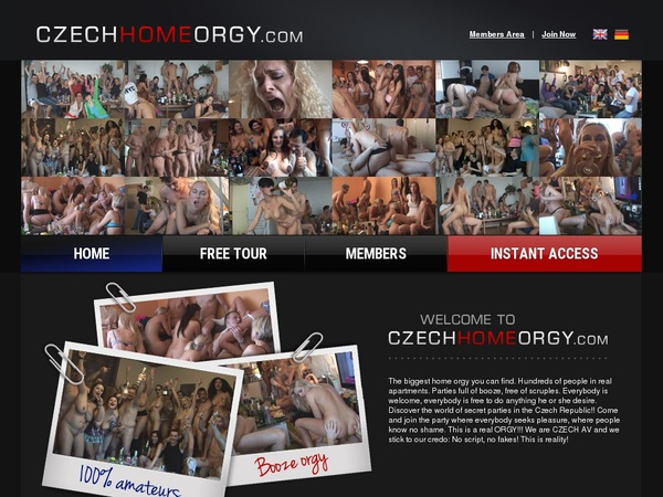 Pay For Czech Home Orgy